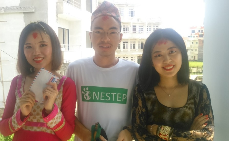 Chinese volunteers in Nepal