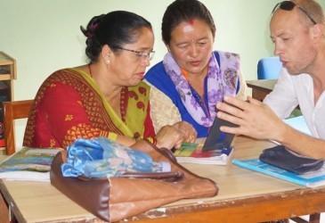 volunteering at women center