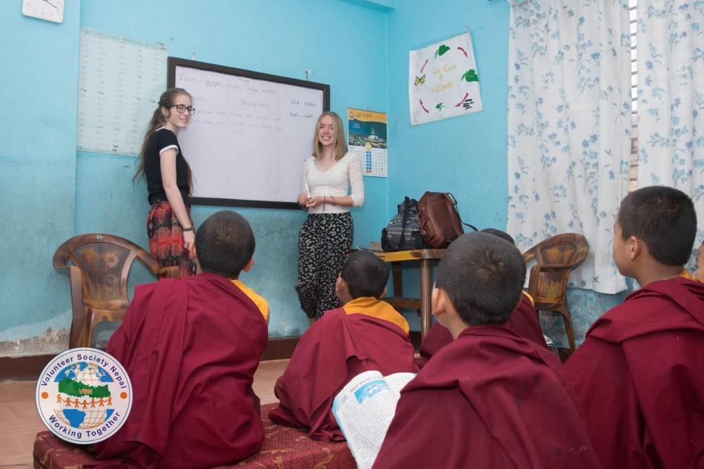 Teach english at buddhist monastery Nepal